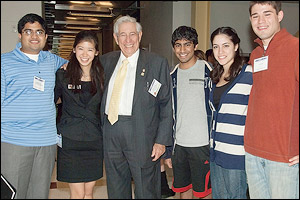 Dr. Fischell with Students